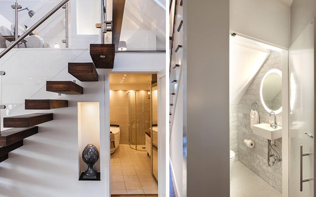 Ideas para aprovechar el espacio bajo las escaleras el for Bano bajo escalera